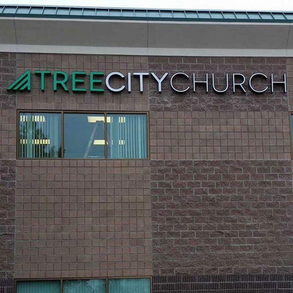 Church sign Tree City Church