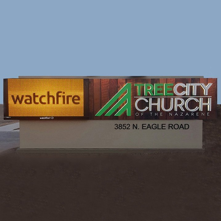 ree City Church monument sign