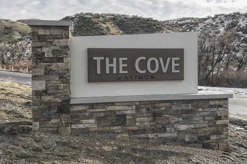 Commercial Real Estate The Cove Monument sign