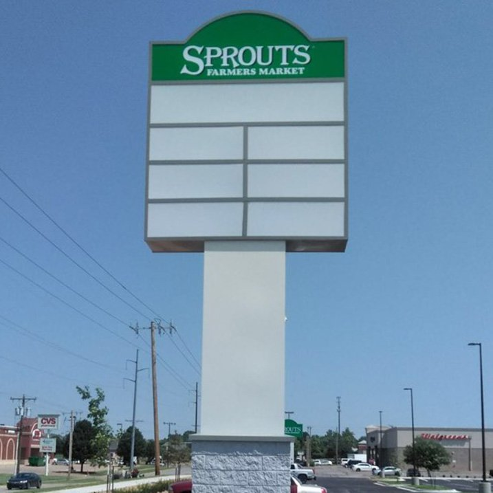 Commerial Real Estate Sprouts pylon sign