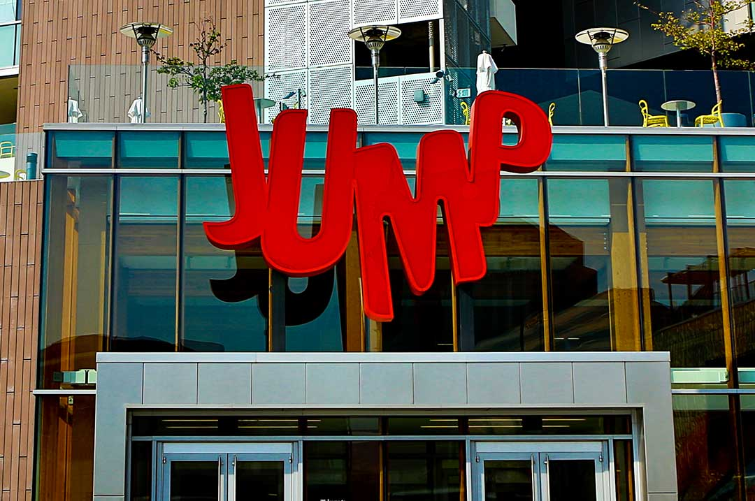 Entertainment Jump Day Sign