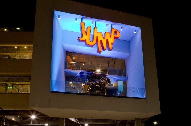 Entertainment Jump night time sign