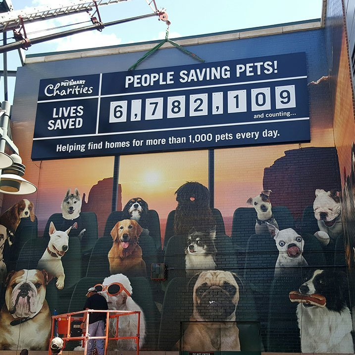Entertainment Pet Smart Charity sign