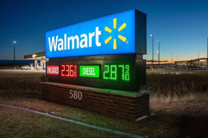 Gas and C Stores Walmart monument sign