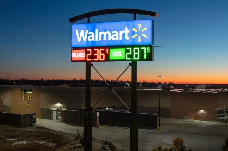 Gas and C Stores Walmart pylon sign