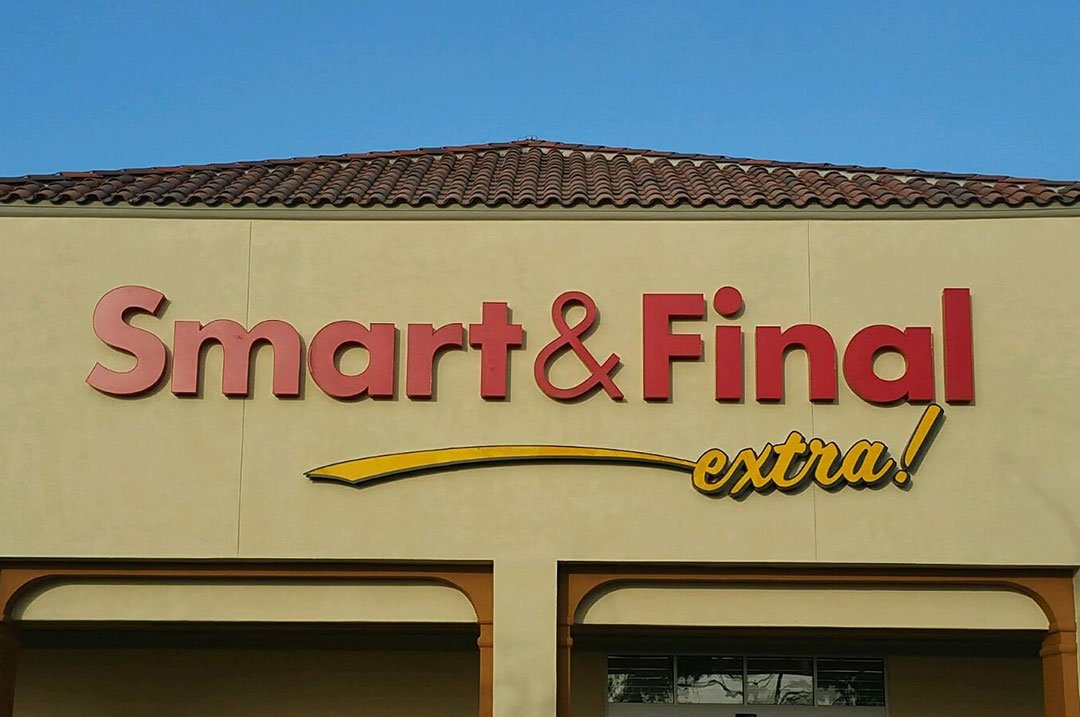 Grocery sign Smart and Final sign