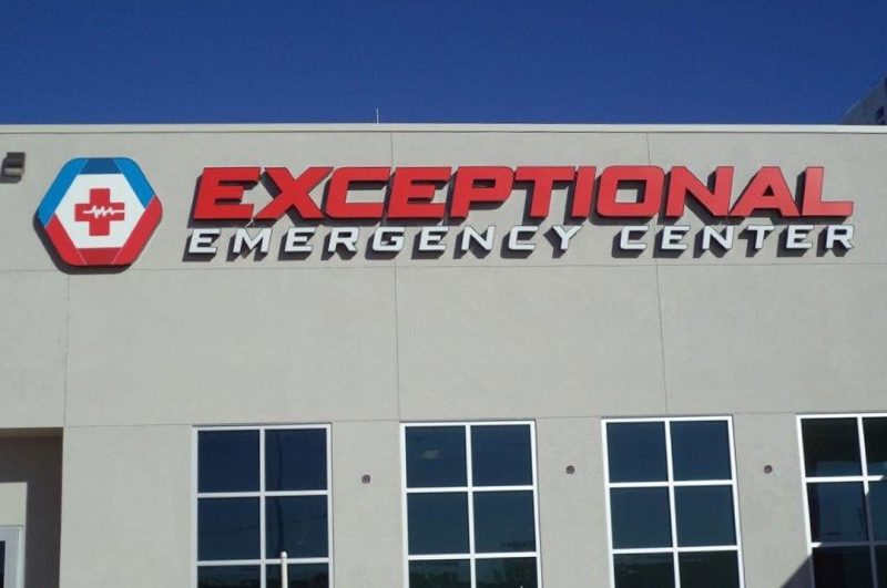 Healthcare Exceptional Emergency Center Sign