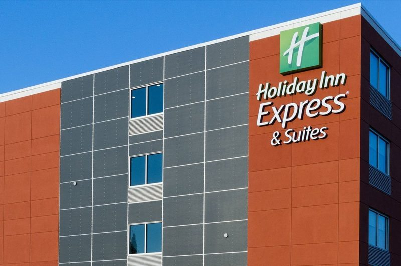 Hospitality Holiday Inn Express exterior sign