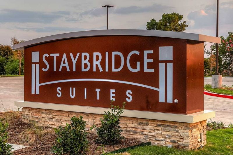 Hospitality Staybridge monument sign exterior sign