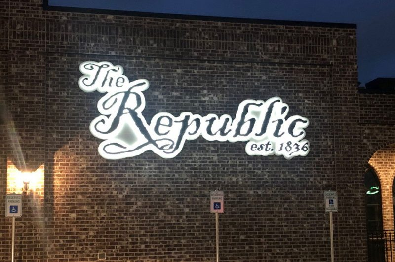 Restaurants The Republic exterior sign