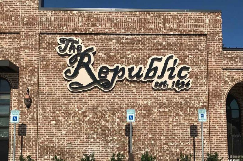 Restaurants The Republic exterior sign day time