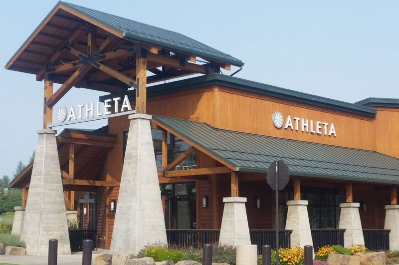 Retail Athleta exterior sign