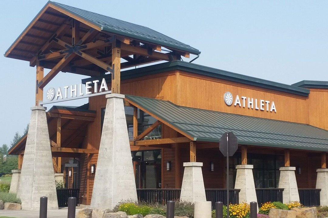 Retail Athleta exterior sign