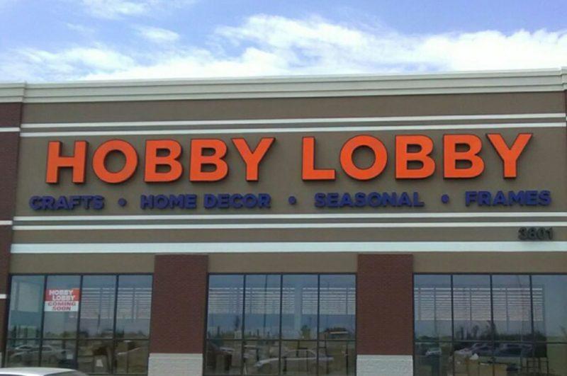 Retail Hobby Lobby exterior sign