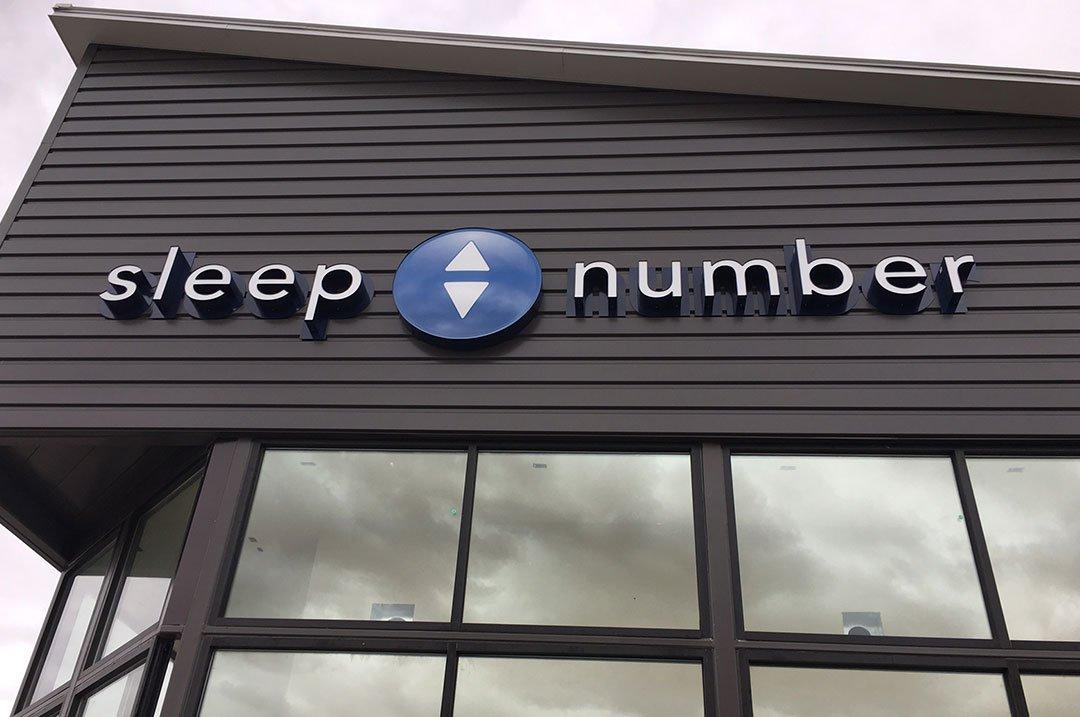 Retail Sleep number exterior sign