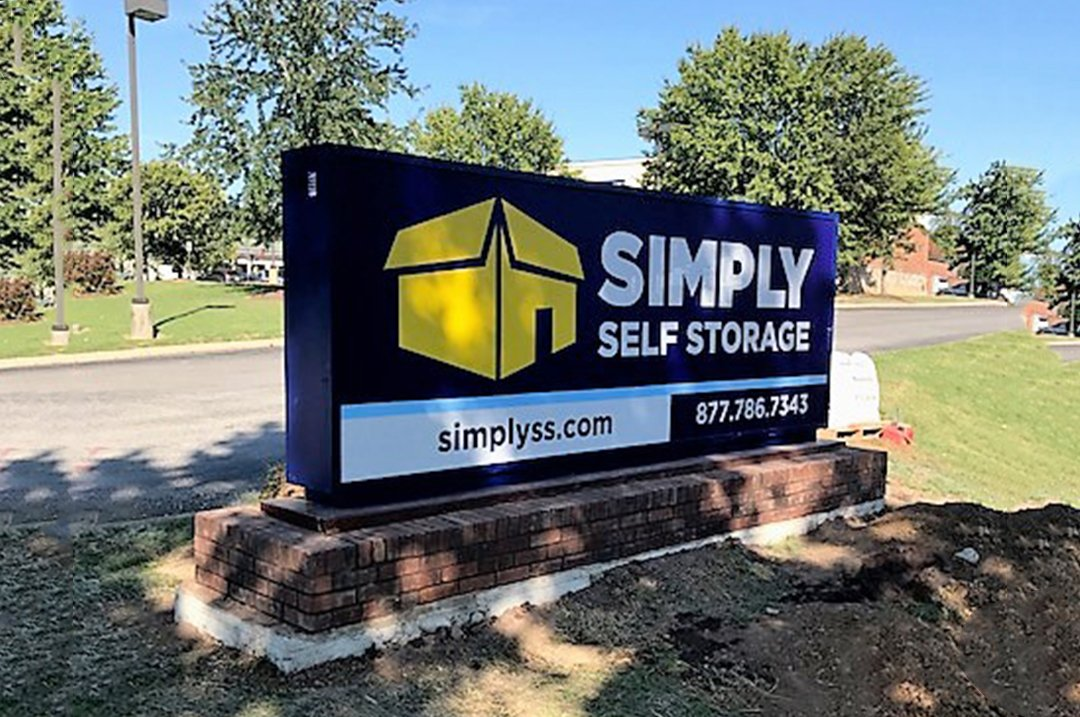 Self Storage exterior monument sign