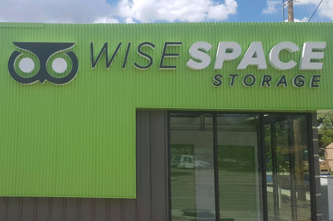 Self Storage exterior wise space storage sign