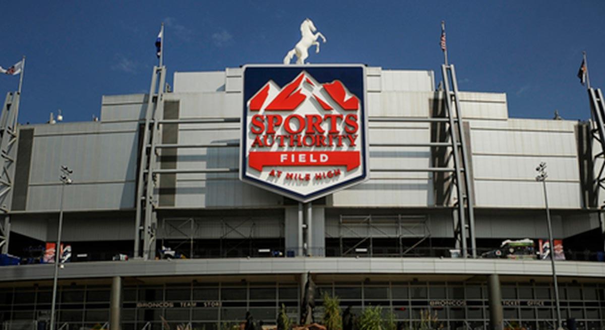 Sports Authority stadium sign