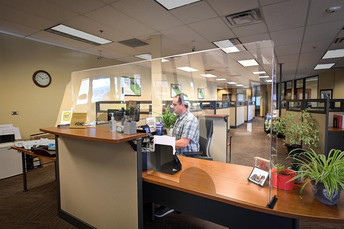 custom sneeze guard office business