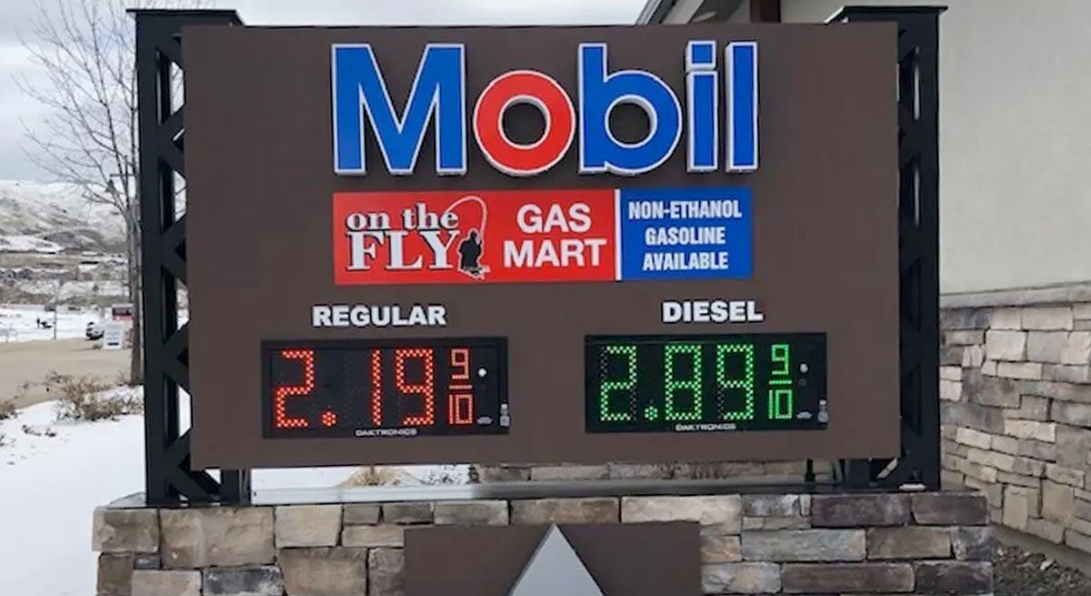 gas station digital sign